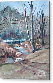 Walking The Greenway Acrylic Print by Janet Felts