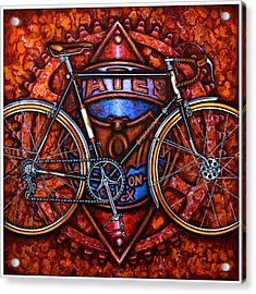 Bates Bicycle Acrylic Print by Mark Howard Jones
