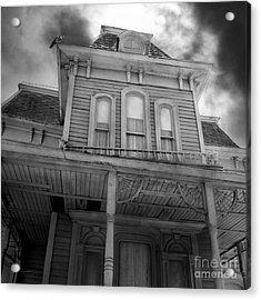 Bates Motel 5d28867 Square Black And White Acrylic Print by Wingsdomain Art and Photography