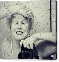 Bath Mirror Acrylic Print by Diana Angstadt
