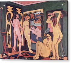 Bathers In A Room Acrylic Print