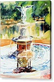Bathesda Fountain Acrylic Print