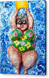 Bathing Beauty Acrylic Print by Alison  Galvan