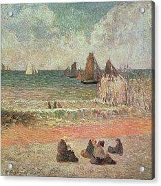 Bathing Dieppe Acrylic Print by Paul Gauguin