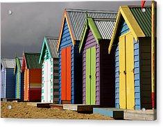 Bathing Huts Acrylic Print