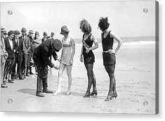 Bathing Suit Fashion Police Acrylic Print by Underwood Archives