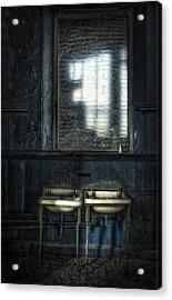Bathroom Blues Acrylic Print