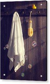 Bathroom Towel Acrylic Print by Amanda Elwell