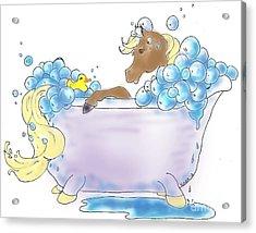 Bathtime Acrylic Print