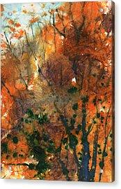 Batik Style/new England Fall-scape No.34 Acrylic Print by Sumiyo Toribe
