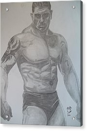 Acrylic Print featuring the drawing Batista by Justin Moore