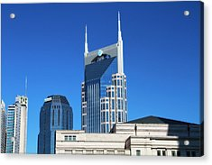 Batman Building And Nashville Skyline Acrylic Print by Dan Sproul