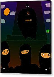 Batman-nocturnal E Acrylic Print by John Lavernoich