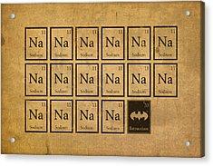 Batmantium Periodic Table Element Chart Nerd Chemistry Student Superhero Humor Acrylic Print by Design Turnpike
