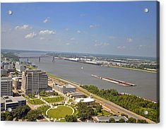 Baton Rouge's Mississippi River Acrylic Print by Helen Haw