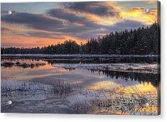 Batsto Lake Sunset 2 Acrylic Print by Greg Vizzi