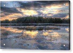 Batsto Lake Sunset1 Acrylic Print by Greg Vizzi