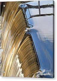 Batsto Waterfall Acrylic Print by Louise Reeves