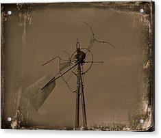 Battered Acrylic Print by Mikki Cromer