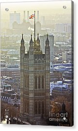 Battersea Power Station And Victoria Tower London Acrylic Print