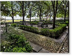 Acrylic Print featuring the photograph Battery Park by Sennie Pierson