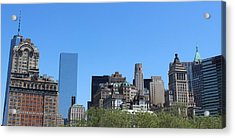 Battery Park Acrylic Print by Suzanne Perry