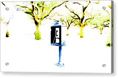 Battery Payphone Acrylic Print by Philip Zion