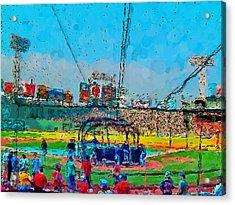 Batting Cage Fenway Acrylic Print by John Farr