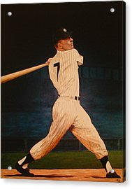 Batting Practice - Mickey Mantle Acrylic Print