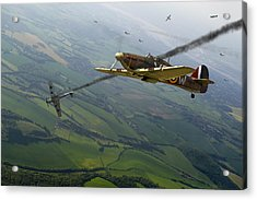 Battle Of Britain Dogfight Acrylic Print