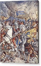 Battle Of Fornovo, Illustration Acrylic Print by Herbert Cole