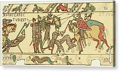 Battle Of Hastings The Battle Rages Acrylic Print by Mary Evans Picture Library