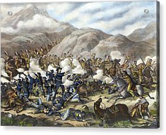 Battle Of Little Big Horn Acrylic Print by Granger