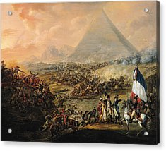 Battle Of Pyramids, 21 July 1798 Oil On Canvas Acrylic Print