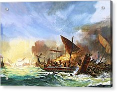 Battle Of Salamis Acrylic Print by Andrew Howat