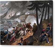 Battle Of The Pyrenees In 1813 Acrylic Print by William Heath