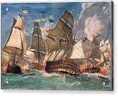 Battle Of Virginia Capes Acrylic Print
