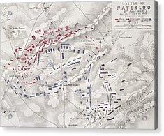 Battle Of Waterloo Acrylic Print by Alexander Keith Johnston
