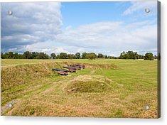 Battle Of Yorktown Battlefield Acrylic Print by John M Bailey