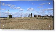 Battlefield At Gettysburg National Military Park Acrylic Print by Brendan Reals