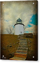 Battlefield Lighthouse  Acrylic Print by Lorella  Schoales