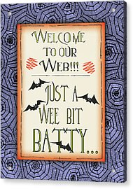 Batty Acrylic Print by Jo Moulton