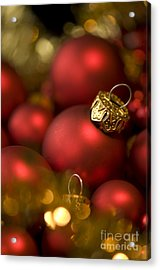 Baubles Acrylic Print by Anne Gilbert