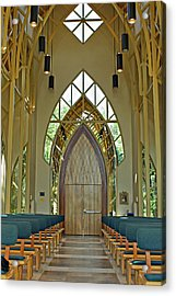 Acrylic Print featuring the photograph Baughman Meditation Center - Inside Front by Farol Tomson