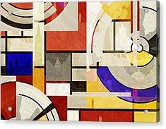 Bauhaus Rectangle Three Acrylic Print by Big Fat Arts