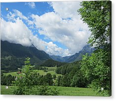 Acrylic Print featuring the photograph Bavarian Countryside by Pema Hou