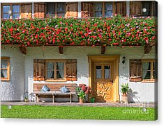 Acrylic Print featuring the photograph Bavarianstyle by Juergen Klust