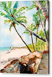 Bavaro Tropical Sandy Beach Acrylic Print