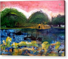 Bay Blues 025 Acrylic Print by Aquira Kusume