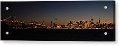 Bay Bridge And City Skyline Acrylic Print